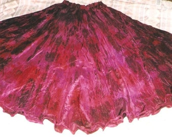 washable SILK circle SKIRT tribal fusion belly dance sca gypsy renaissance costume ballroom flamenco 18 colors