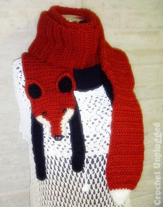 Free Crochet Pattern Fox Scarf Pakbit For