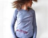 Womens Pet Lobster Print T-shirt, longsleeve shirt, graphic tee women American Apparel tshirt Long sleeve tshirt gift youre my lobster