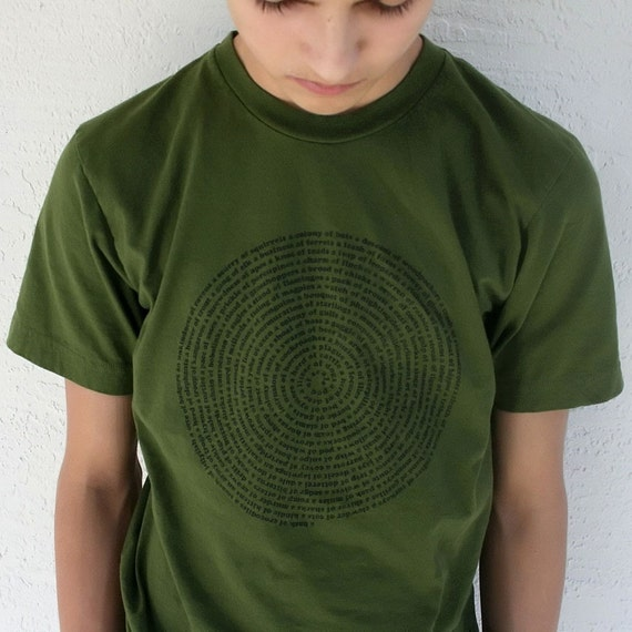 2XL Mens T shirt, Animal Collective Nouns Olive Green XXL Men t-shirt, gift for him, cool mens tshirt