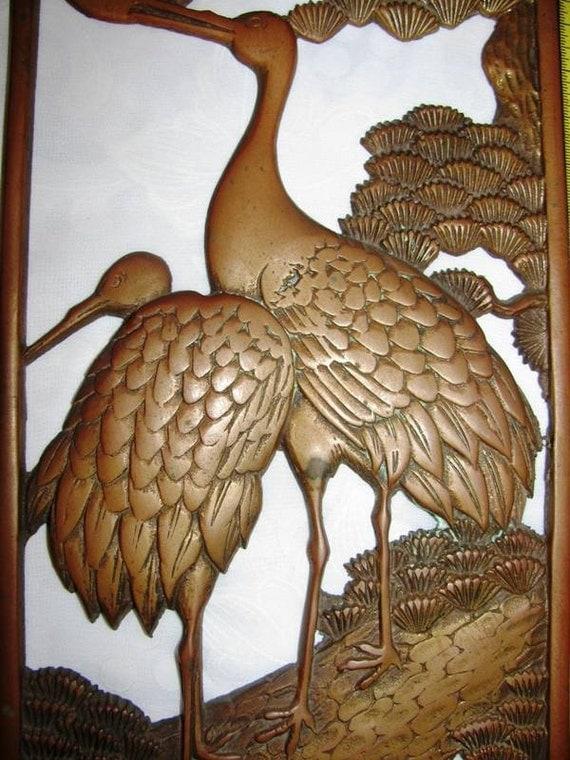 1930 39 s crane birds art deco diecast bronze or by theidconnection. Black Bedroom Furniture Sets. Home Design Ideas