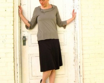 Clover ~ Wrap Skirt ~ Bamboo & Organic Cotton ~ Made to Order