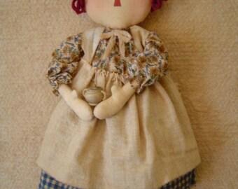 Primitive Raggedy Doll pattern epattern Cyber sale