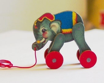 Circus Elephant Pull Toy KIT Dollhouse Miniature
