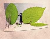 Green leaves photography, Fun print, Fun art, Spring decor, Nature lover, Nature decor, Nature photography, Leaf cutter