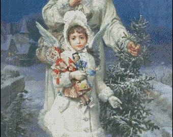VINTAGE SANTA CLAUSE cross stitch pattern No.40