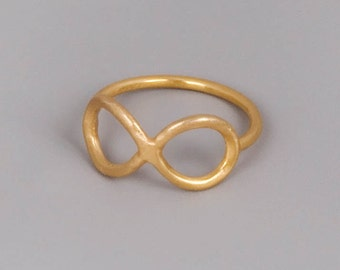 Infinity Ring Gold, Infinity Knot Ring, Promise Ring, Gold Ring, Infinity Stacking Ring, Best Friends Gift, Delicate Ring, Minimalist Ring