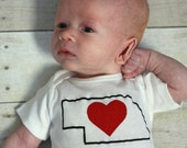 Love for Nebraska Baby Onesie