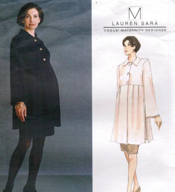 1990s Vogue 1465 American Designer Original UNCUT Vintage Sewing Pattern Misses Maternity Tunic, Skirt, Suit Size 6 - 8 - 10