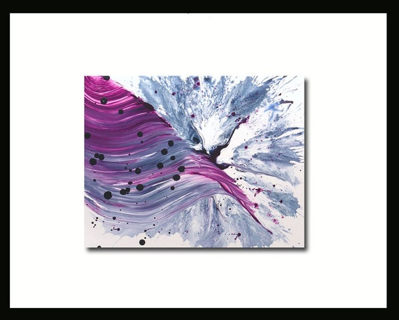 Abstract Painting Shiraz Wave -Purple Water Wine Merlot Splash Original Contemporary
