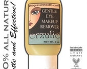 Natural Gentle Eye Makeup Remover Gel  Unscented Organic Skincare   Vegan Formula   Removes waterproof makeup with ease