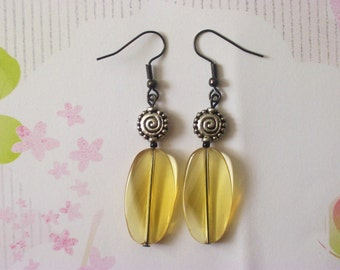 LITTLE MISS SUNSHINE - Happy Yellow Dangle Earrings