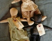 Primitive Doll Digital E Pattern Folk Art Prairie Sisters OFG Teams