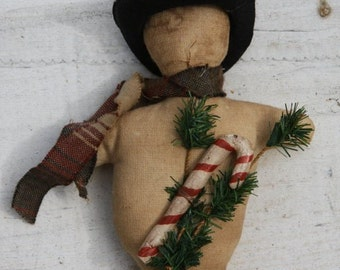 Primitive Snowman Ornie Digital E Pattern OFGTeam Primitive Folk Art Holiday Christmas Pattern