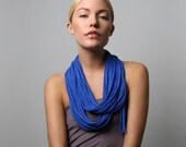 Summer Scarf, Infinity Scarf, Gift For Her, Blue Infinity Scarf, Blue Scarf, Necklace, Blue Summer Scarf, For Her, Accessories, Scarves