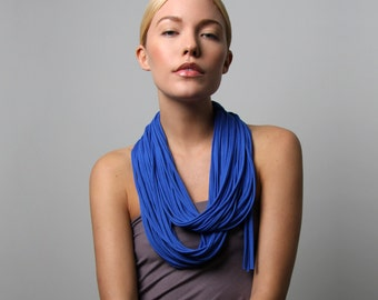 Infinity Scarf, Gift For Her, Blue Infinity Scarf, Blue Scarf, Blue Necklace, Women's Gift, Gift, Women's, For Her, Accessories, Scarves