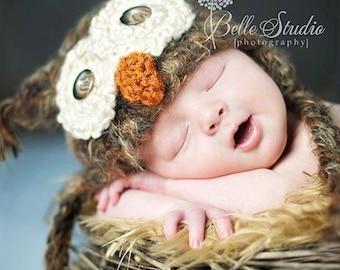 Warm POPULAR Baby Owl Hat Newborn 0 3m 6m Fuzzy Brown Crochet SOFT Sale Photo Prop Clothes Boys Girls Gender Neutral Winter Christmas