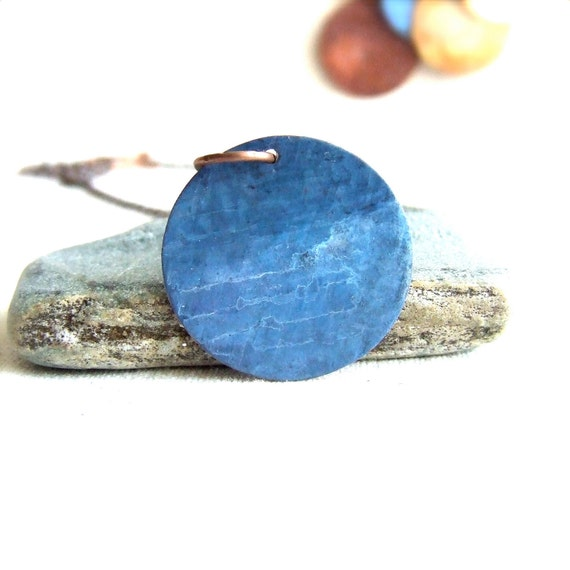 Blue Uranus Pendant Necklace Light Patina Planet Galaxy Science Solar System Fashion Jewellery