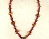 Simply Sweet ~ YKnot Macrame Heart Necklace ~ Macrame Jewelry Y Necklace