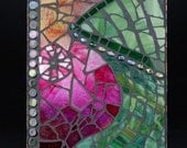 Mosaic Green Glass Vase - Wall hanging