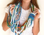 Infinity Scarf Necklace by Mademoiselle Mermaid