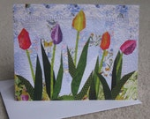 Art Quilt Card - Spring Beauties