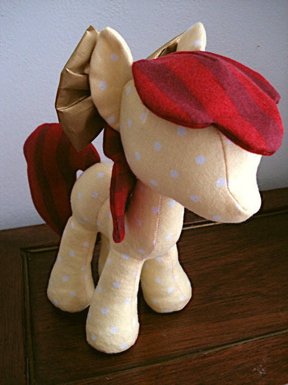 Physical Copy & Digital Copy, Pony Plush Sewing Pattern with Unicorn Horn and Pegasus Wings (Plushie, Stuffed Toy)