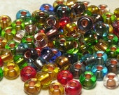 2/0 Color Mixed Copper Lined Czech Glass Seed Beads 20 Grams (CS89)