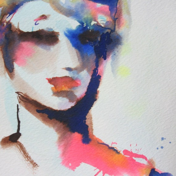 Watercolor Faces Painting Painting Woman 39 s Face Hot