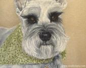 8x10 Schnauzer Fine Art Giclee Print by LARA