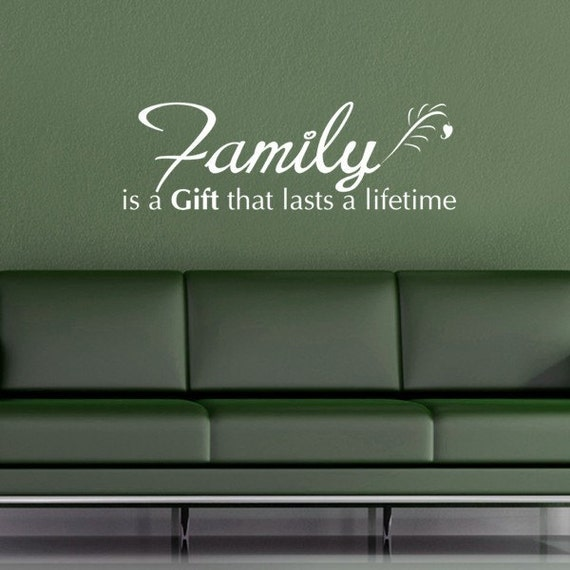 Family is a Gift Wall Decal -  family vinyl lettering - Vinyl wall art family decals