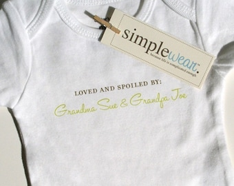 loved and spoiled by baby bodysuit