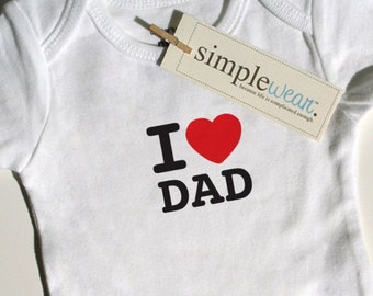 i heart dad baby onesie