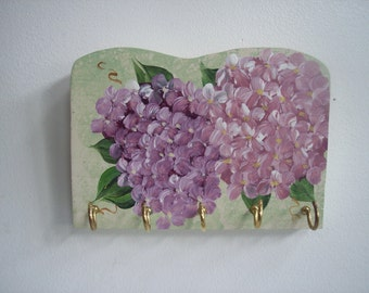 Hydrangea Wood Key Rack---Jewelry Hanger