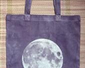 Night Moon Screenprinted Tote