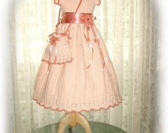 Fall - Alissa's Autumn Glory crochet children dress Digital e Pattern (girl size 8, 10, 12, 14) 004P-LG