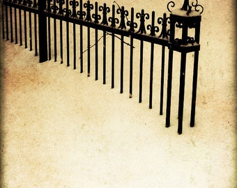 Montreal Art Print Winter Photography Wrought Iron Canadian Sellers Cream Black Snow Gothic The Lonely Pixel - Winter's Stillness