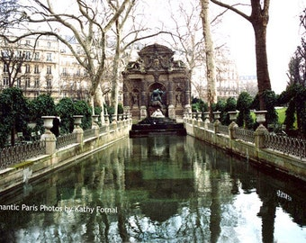 Paris Photography, Jardin du Luxembourg Gardens, Medici Fountain Gardens, Paris Romantic Lovers Monuments, Paris Gardens Fine Art Prints