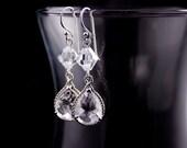 Wedding Jewelry Bridal Jewelry Clear Teardrop Wedding Earrings