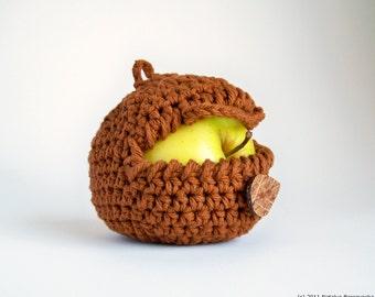 Back to School Gift, Apple Cozy, Crochet Apple Cozy, Hipster Gift, Vegan Gift, Yoga Gifts, Son Gift, Apple Wedding Favors, Boyfriend Gift