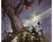 Mike Hoffman Spooky Trick or Treat Print THE HALLOWEEN TREE