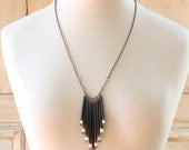 Porcupine Quill Necklace Forest Dweller Necklace Woodland Tribal Statement Bib Necklace - Woodland Necklace by Prairieoats