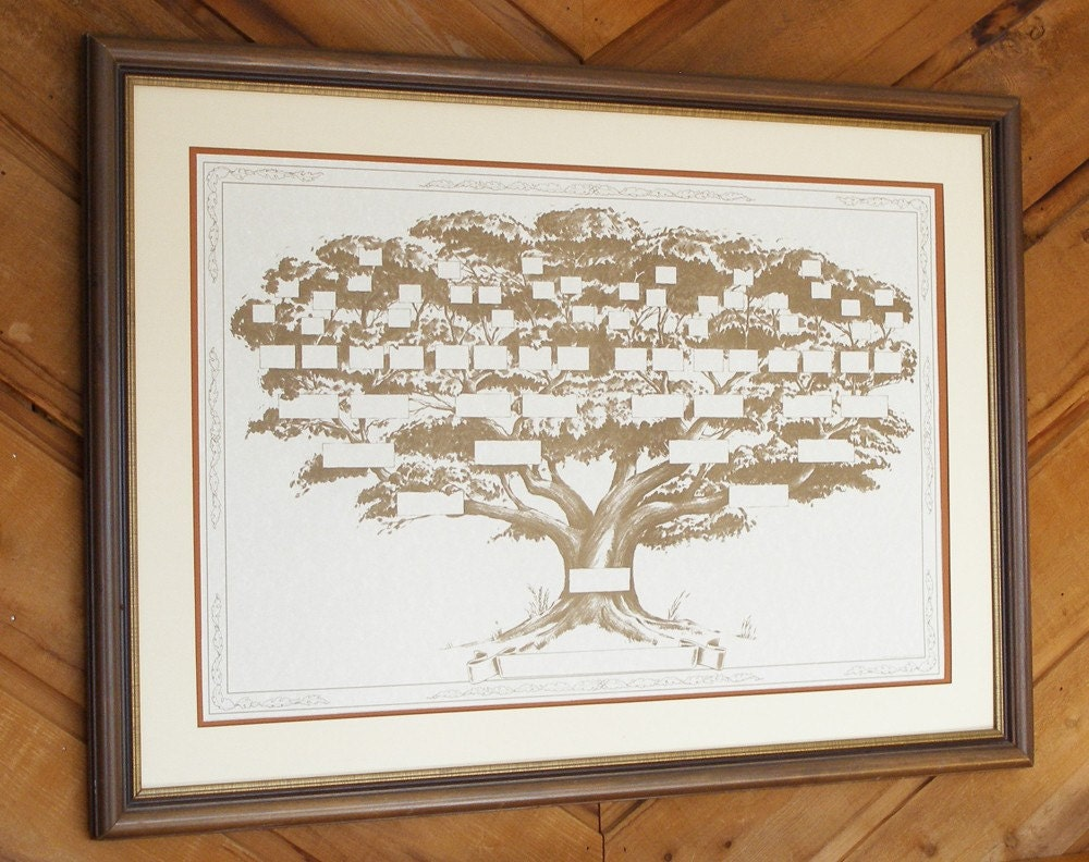 family tree chart displays 6 to 7 generations of your