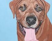 Custom Pet Portrait - Dog Portrait - 11x11 Painted Portrait - Original Painting - Dog Portrait - Custom Dog Art - Gift Dog Lover