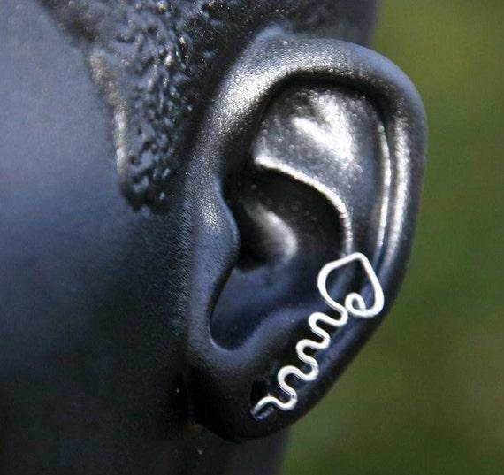 Sterling Silver Ear Pin Earrings
