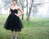 Black Tulle Skirt Knee Length/Midi Party