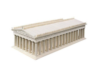 The Parthenon, architecture model kit of Acropolis temple || scale 1/250 || white or limestone color