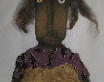 "Eunice Witch Primitive Black 26"" Halloween Doll IMMEDIATELY DOWNLOADABLE E-PATTERN"