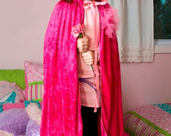 Handmade  Princess Cape Costume Halloween Girl Children Child Toddler Kids