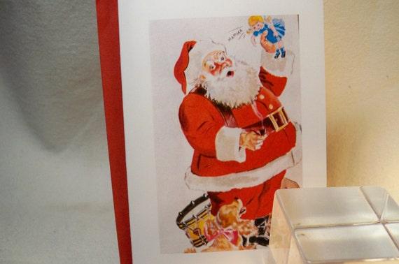 Santa Claus Card Set - Set of 6 - featuring Retro Christmas Cheer